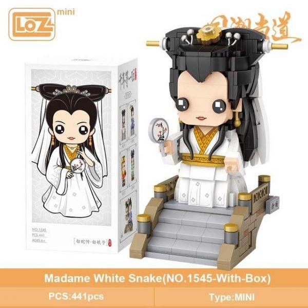 LOZ Mini Blocks White Snake White Lady Official LOZ BLOCKS STORE