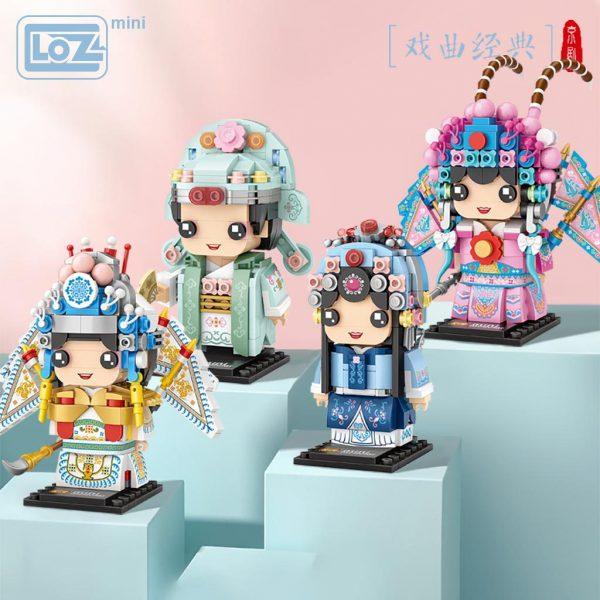 LOZ Mini Block National Quintessence Peking Opera Square Head Official LOZ BLOCKS STORE