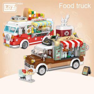 LOZ Mini Blocks Pizza Cart Coffee Cart Official LOZ BLOCKS STORE