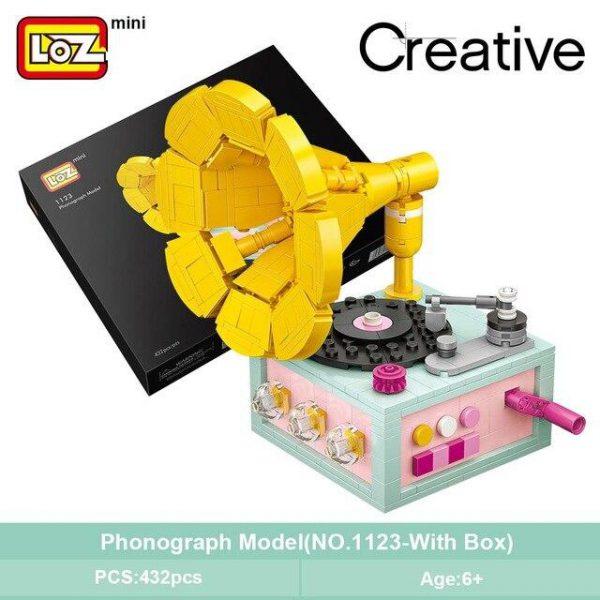 LOZ Mini Blocks Phonograph Official LOZ BLOCKS STORE