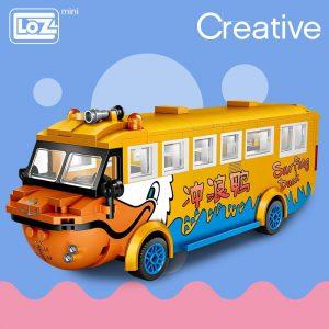 LOZ Mini Blocks Surf Duck Amphibious Bus Official LOZ BLOCKS STORE