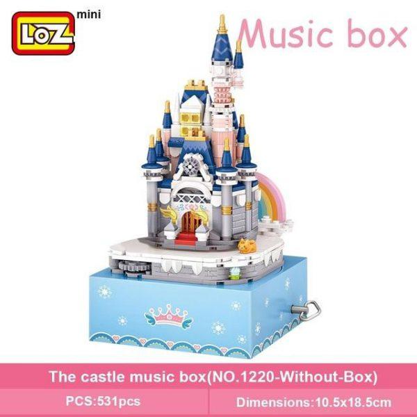 LOZ Mini Blocks Princess Castle Music Box Official LOZ BLOCKS STORE