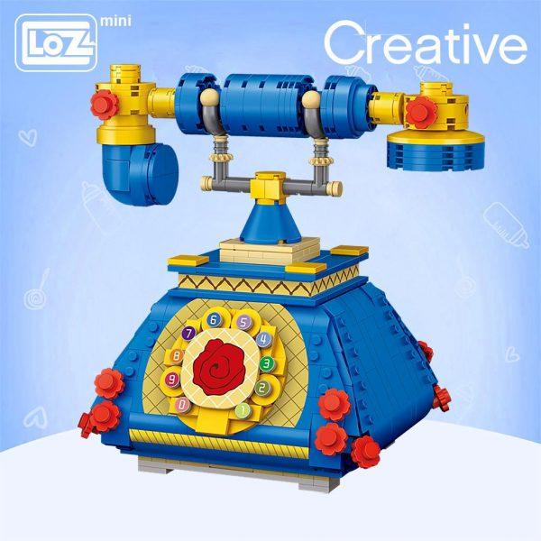 LOZ Mini Blocks Blue Telephone Official LOZ BLOCKS STORE