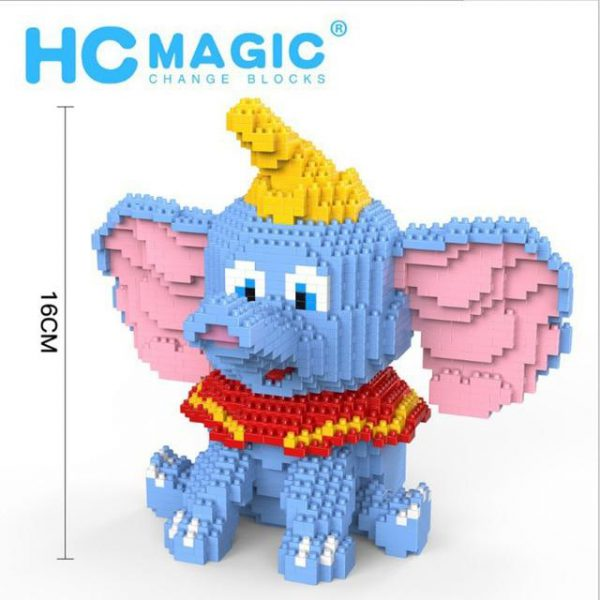 HC Magic Blocks Dumbo Elephant Official LOZ BLOCKS STORE