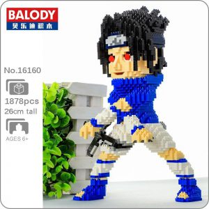 Balody 16160 Anime Naruto Uchiha Sasuke Official LOZ BLOCKS STORE