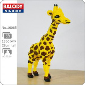 Balody 16065 Yellow Giraffe Stand Official LOZ BLOCKS STORE