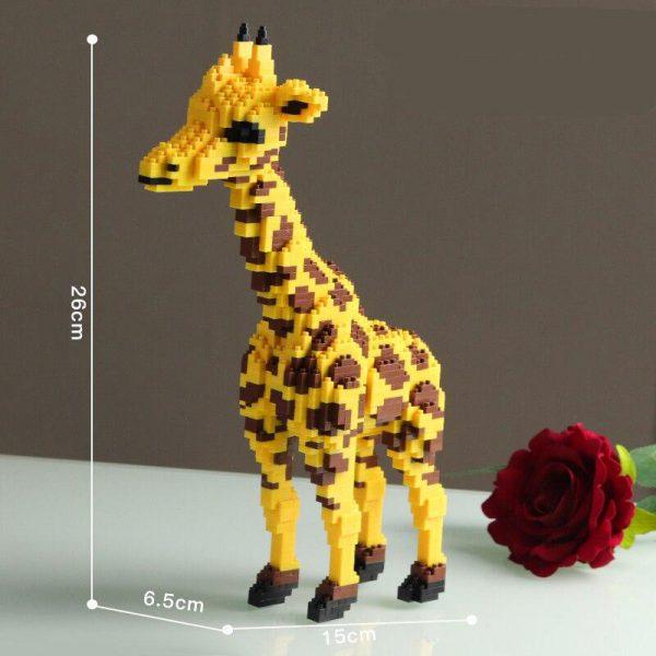 Balody 16065 Yellow Giraffe Stand Official LOZ BLOCKS STORE