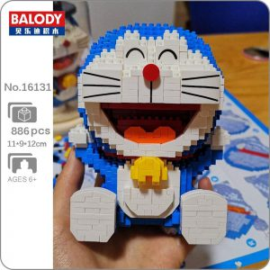 Balody 16131 Anime Doraemon Cat Robot Sit Official LOZ BLOCKS STORE