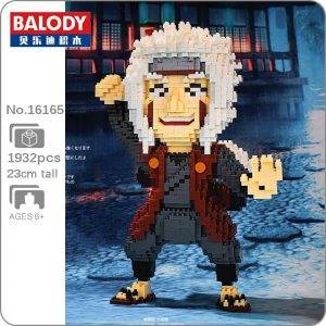 Balody 16165 Anime Naruto Master Jiraiya Official LOZ BLOCKS STORE