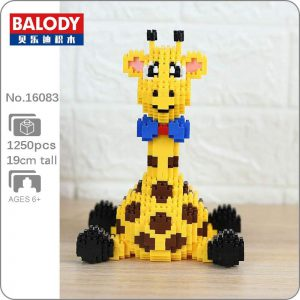 Balody 16083  Animal Yellow Giraffe Sit Official LOZ BLOCKS STORE