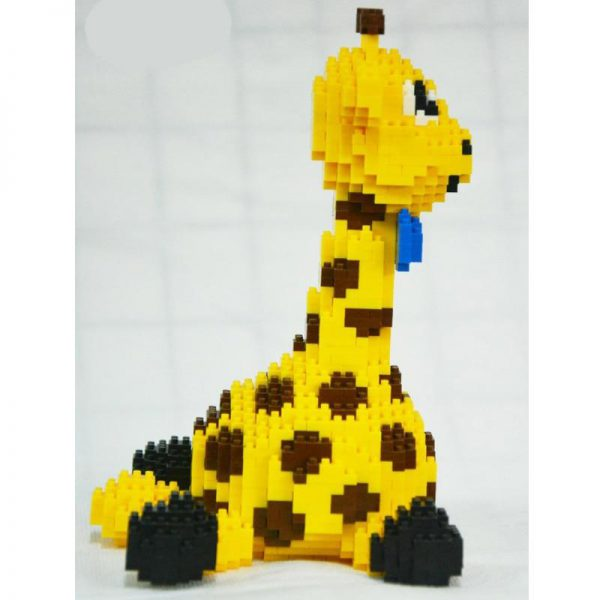 Balody 16083  Animal Yellow Giraffe Sit Official LOZ BLOCKS STORE