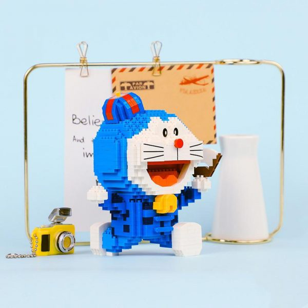 Balody 16136 Anime Doraemon Cat Robot Running Official LOZ BLOCKS STORE