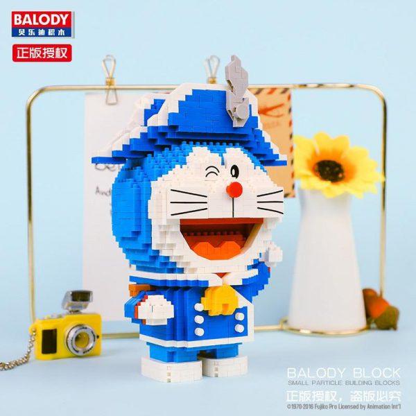 Balody 16135 Anime Doraemon Cat Robot Soldier Official LOZ BLOCKS STORE