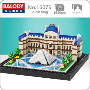 Balody 16076 Paris Louvre Museum World Famous Architecture Official LOZ BLOCKS STORE