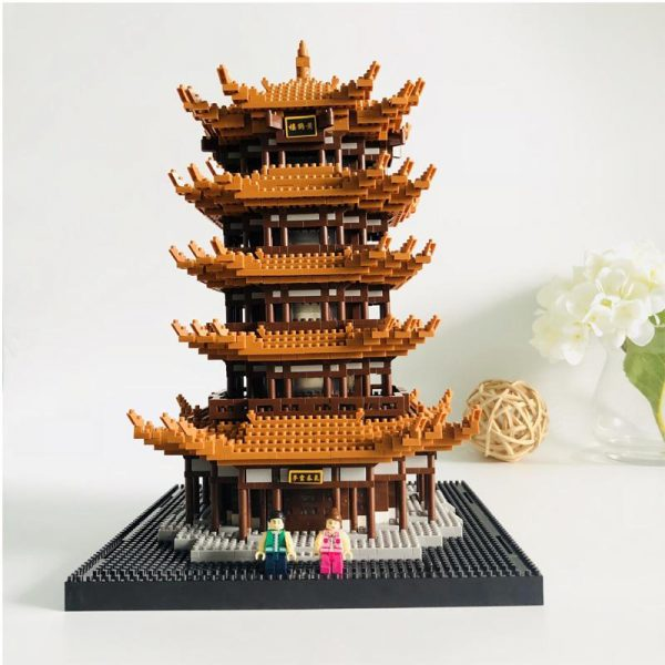 Balody 16068 Tower of Yellow Crane World Architecture Official LOZ BLOCKS STORE
