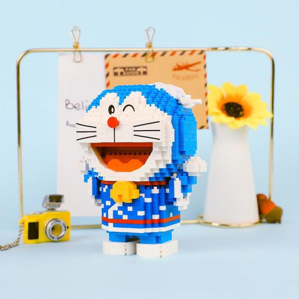 Balody 16137 Anime Doraemon Cat Robot Kimono Official LOZ BLOCKS STORE