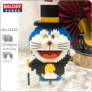 Balody 16132 Anime Doraemon Cat Robot Gentleman Official LOZ BLOCKS STORE