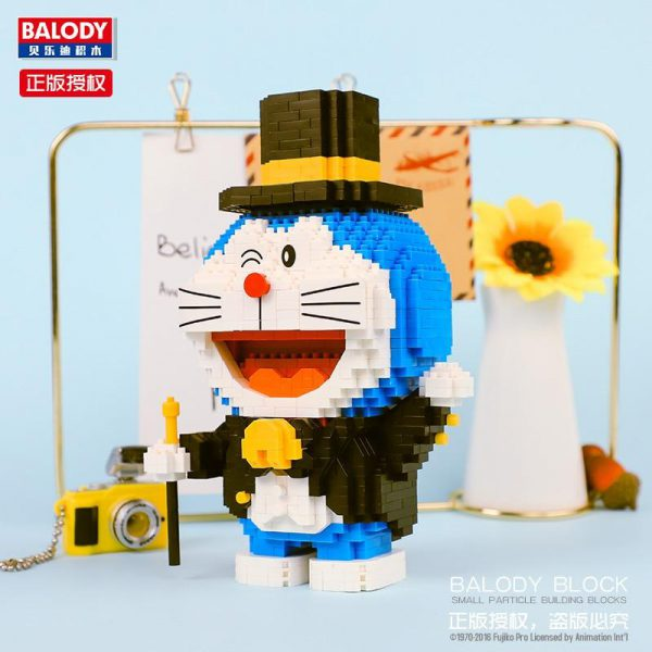 Balody 16132 Anime Doraemon Cat Robot Gentleman Official LOZ BLOCKS STORE