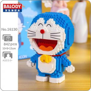 Balody 16130 Anime Doraemon Cat Robot Stand Official LOZ BLOCKS STORE