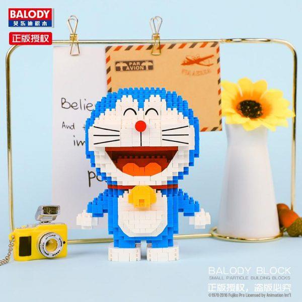 Balody 16130 Anime Doraemon Cat Robot Stand Official LOZ BLOCKS STORE