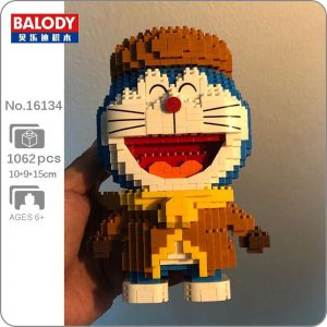 Balody 16134 Anime Doraemon Cat Robot Winter Official LOZ BLOCKS STORE