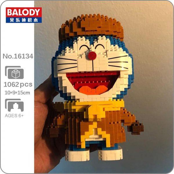 Balody 16134 Anime Doraemon Cat Robot Winter Official LOZ BLOCKS STORE