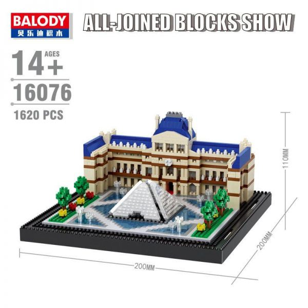 Balody Musee du Louvre World Architecture Official LOZ BLOCKS STORE