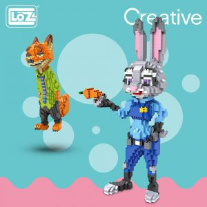 LOZ Diamond Blocks Assembly Fox Rabbit Official LOZ BLOCKS STORE
