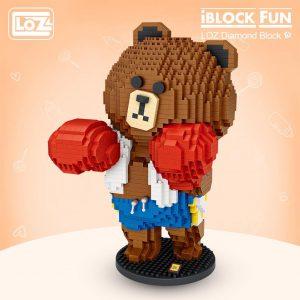 LOZ Diamond Blocks Boxing Bear Official LOZ BLOCKS STORE