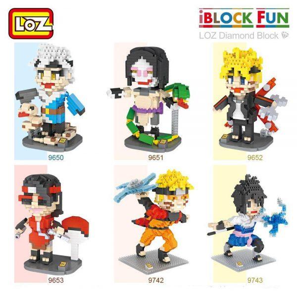 LOZ Diamond Block Japanese Anime Ninja Bricks Official LOZ BLOCKS STORE
