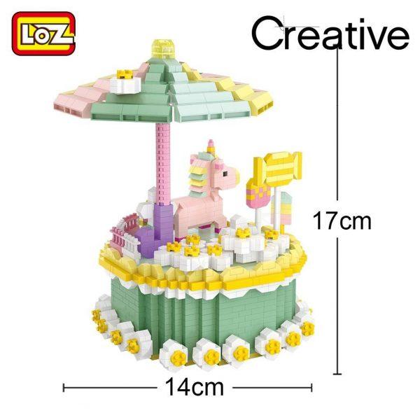 LOZ Diamond Blocks Birthday Cake Macaron Unicorn Official LOZ BLOCKS STORE