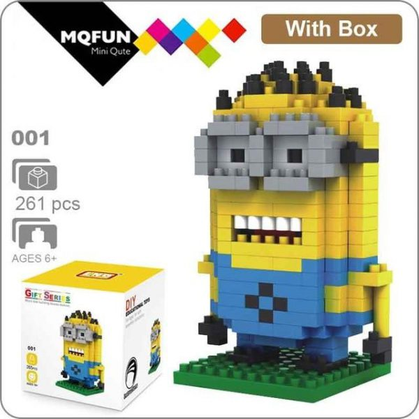 LNO Diamond Cartoon Minions Official LOZ BLOCKS STORE