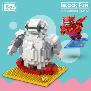 LOZ Diamond Blocks Cartoon White Robot Official LOZ BLOCKS STORE