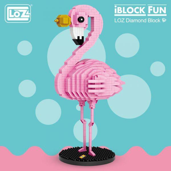 LOZ Diamond Blocks Flamingo Pink Bird Official LOZ BLOCKS STORE