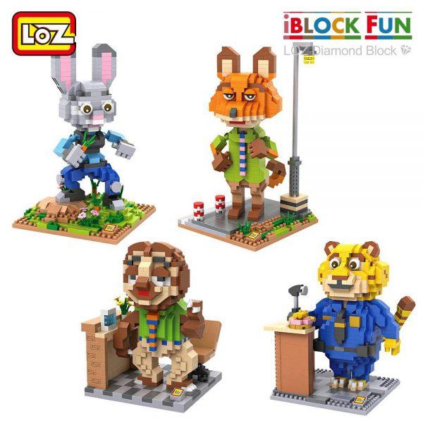LOZ Diamond Blocks Rabbit Fox Panther Sloth Zoo Official LOZ BLOCKS STORE