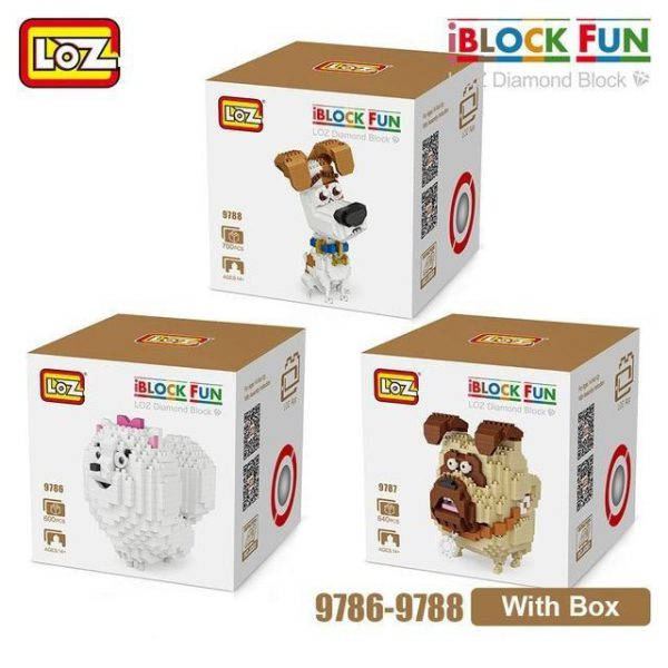 LOZ Diamond Blocks Jack Russell Terrier Dog Official LOZ BLOCKS STORE
