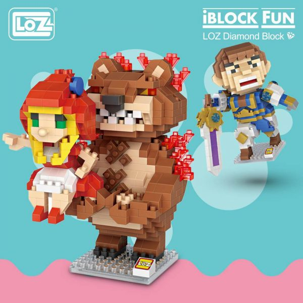 LOZ Diamond Blocks Annie Figure Official LOZ BLOCKS STORE