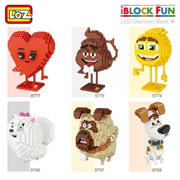 LOZ Diamond Blocks Smile Love Stool Cartoon Animals Official LOZ BLOCKS STORE